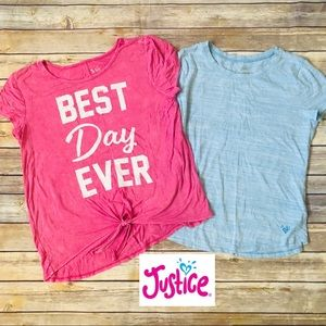 JUSTICE Set of 2 Teen Girls Graphic T-shirts 18/20